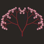 The tree above was created by iterative mutation of its genes. Mutations were selected if they led to an increased light flux, and were rejected otherwise. This algorithm emulates evolution by natural selection.